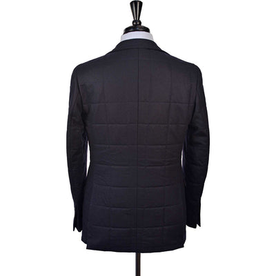 Navy Quilted Flannel Jacket - Beckett & Robb