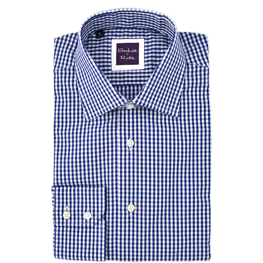 Navy Gingham Shirt - Beckett & Robb