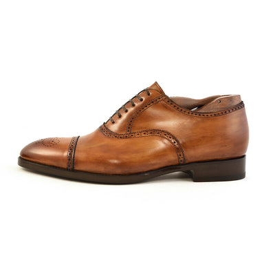 Firenze Brown Half Brogue - Beckett & Robb