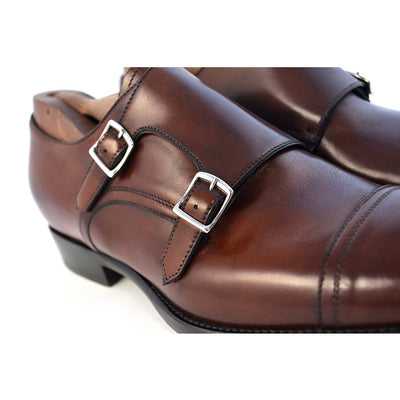 Roma Dark Brown Double Monk Strap - Beckett & Robb