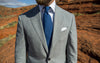 Light Grey Wool/Elastane Suit - Beckett & Robb