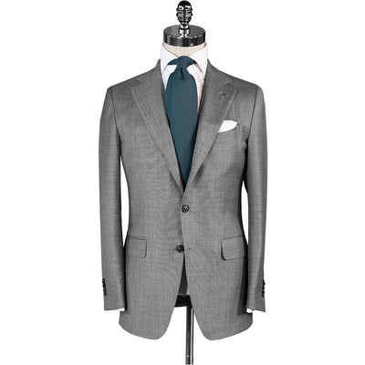 Light Grey Bird's Eye Suit - Beckett & Robb