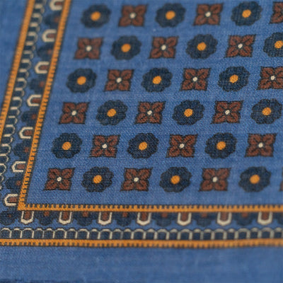 Blue Medallion Pocket Square - Beckett & Robb