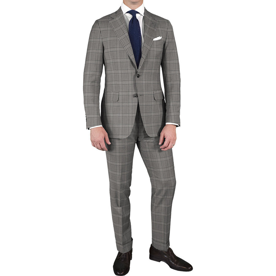 Bold Grey Plaid Sport Coat
