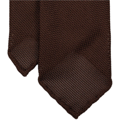 Brown Grenadine Tie (Garza Piccola) - Beckett & Robb