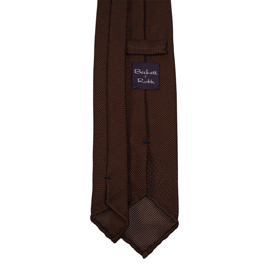 Brown Grenadine Tie (Garza Piccola)