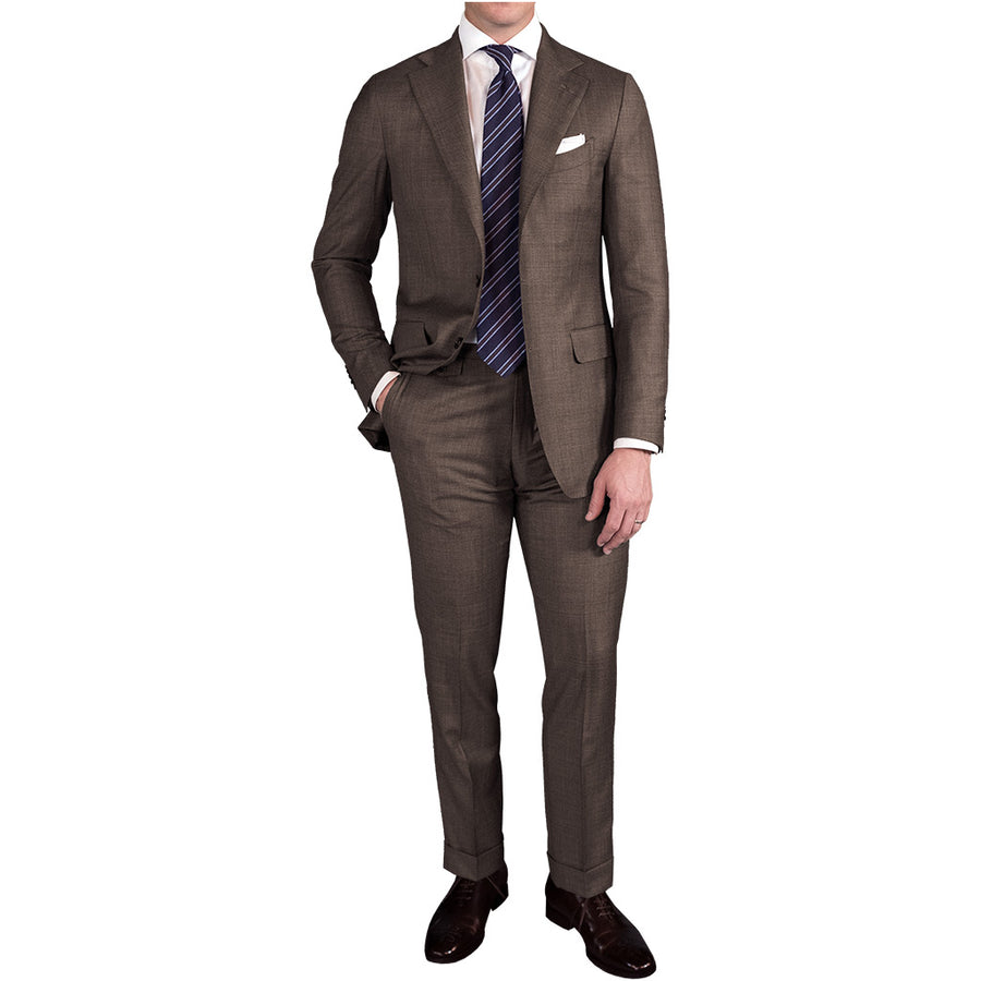 Brown Sharkskin Suit - Beckett & Robb