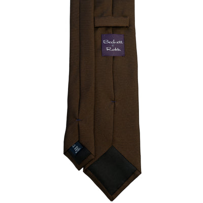 Brown Silk Tie - Beckett & Robb