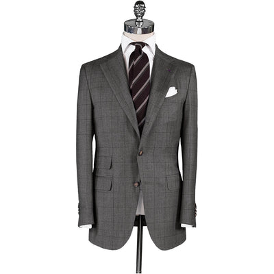 Brushed Grey Glen Plaid Suit - Beckett & Robb