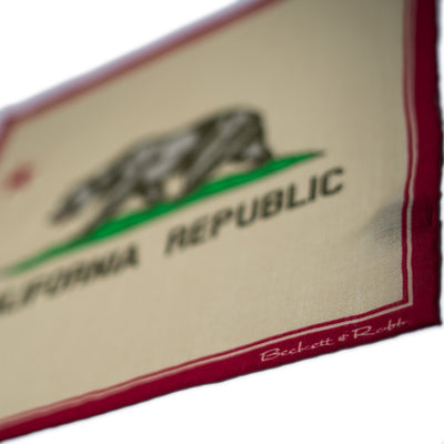 California Flag Pocket Square - Beckett & Robb