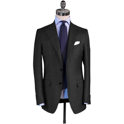 Charcoal Sharkskin Suit - Beckett & Robb