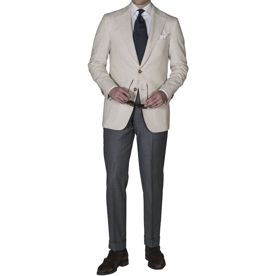 Textured Cream Sport Coat - Beckett & Robb