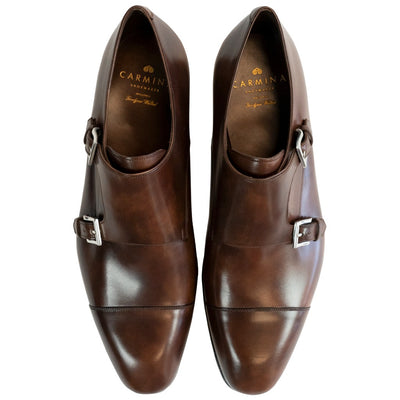 Carmina Brown Double Monk Strap - 80544 - Beckett & Robb