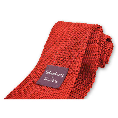 Red Knit Tie - Beckett & Robb