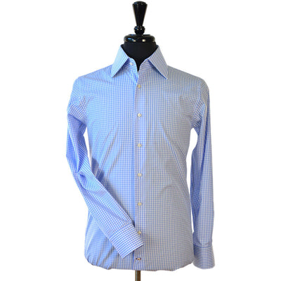 Light Blue Gingham Shirt - Beckett & Robb