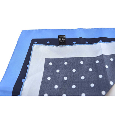 Navy & Light Blue Polka Dot Pocket Square - Beckett & Robb