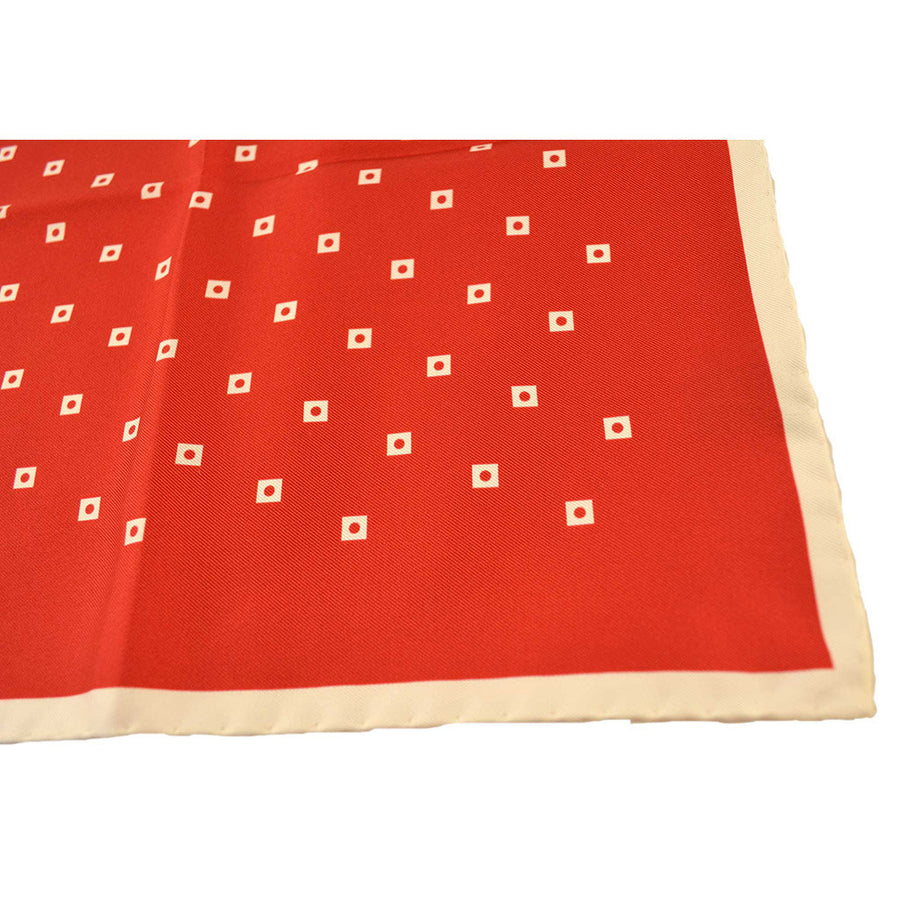 Red & White Pocket Square - Beckett & Robb