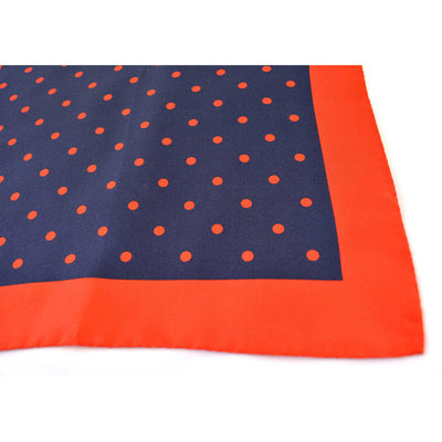Navy & Red Polka Dot Pocket Square - Beckett & Robb