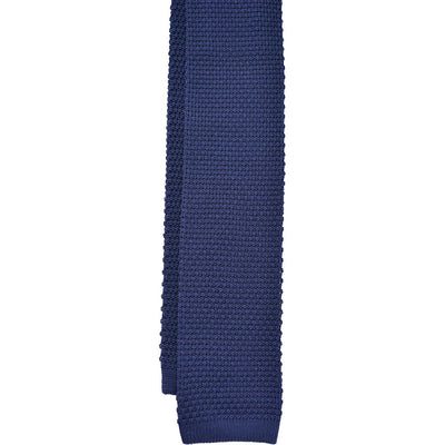 Navy Knit Tie - Beckett & Robb