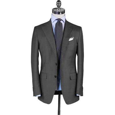 Grey Sharkskin Suit - Beckett & Robb