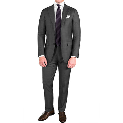 Medium Grey Plain Weave Suit - Beckett & Robb