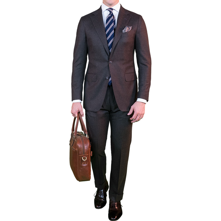 Brown Flannel Suit