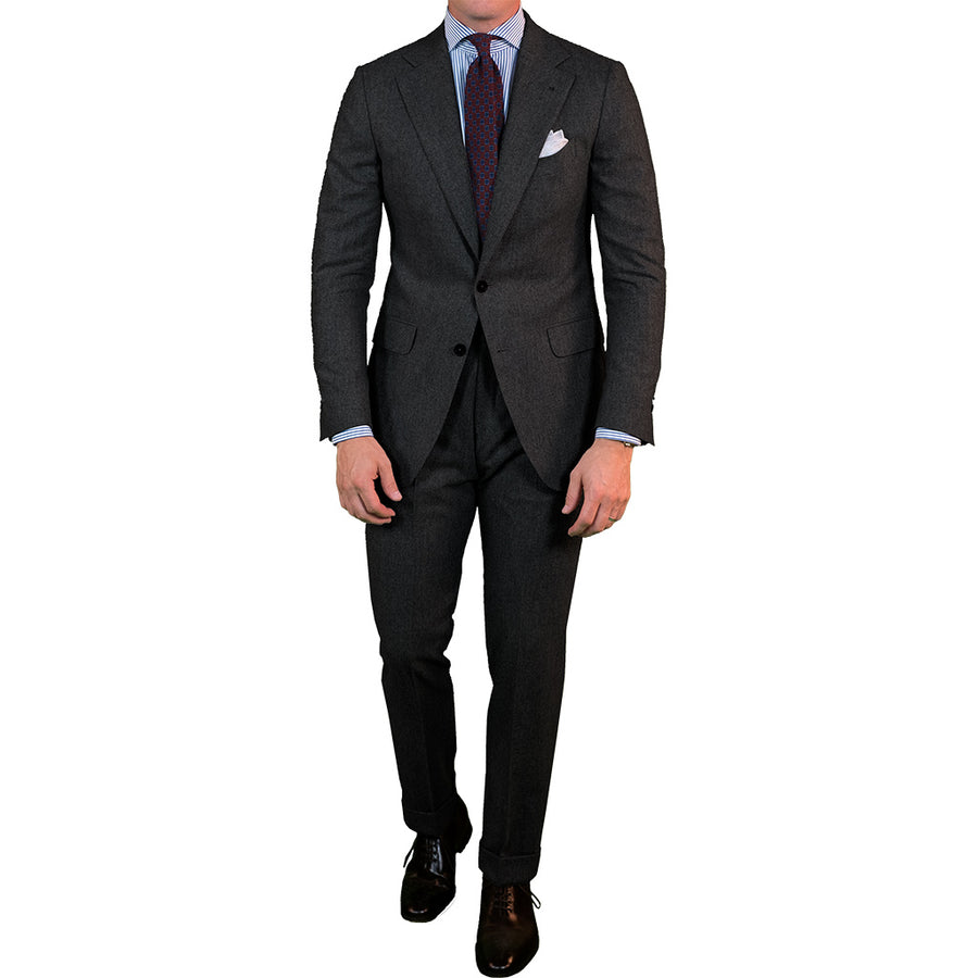 Charcoal Grey Flannel Suit - Beckett & Robb