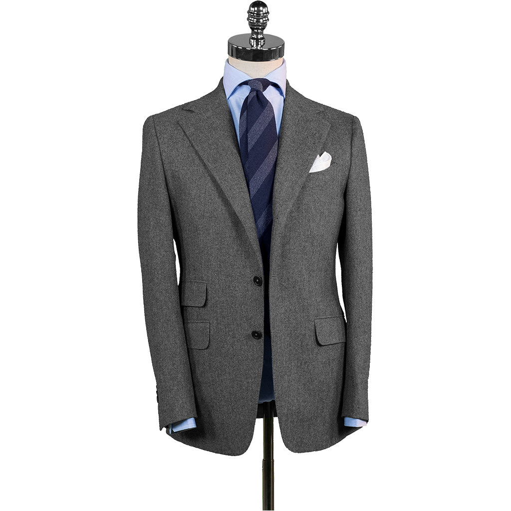 Dark Grey Flannel Suit - Beckett   Robb 13e264e7b