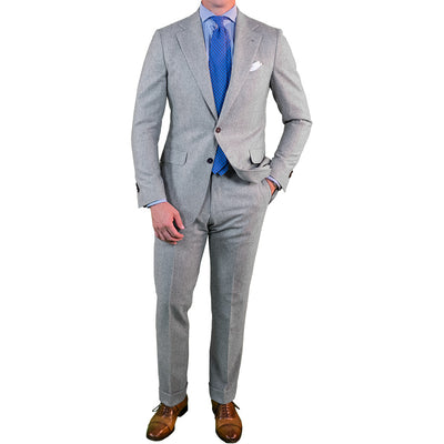 Light Grey Flannel Suit - Beckett & Robb