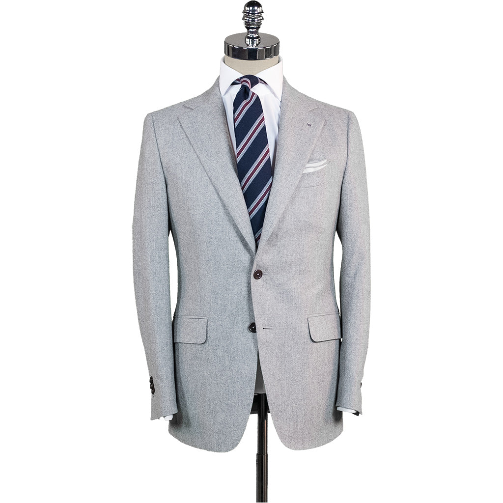 Light Grey Flannel Suit - Beckett   Robb 74efcfc9e