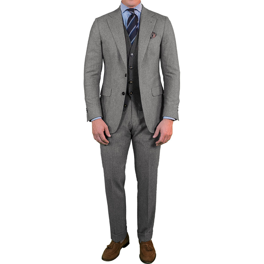 Mid Grey Flannel Suit
