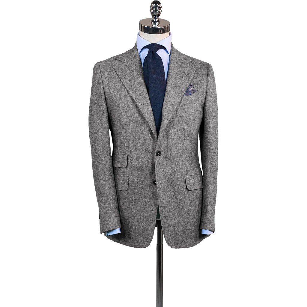 Mid Grey Flannel Suit - Beckett   Robb 9ca065fb4