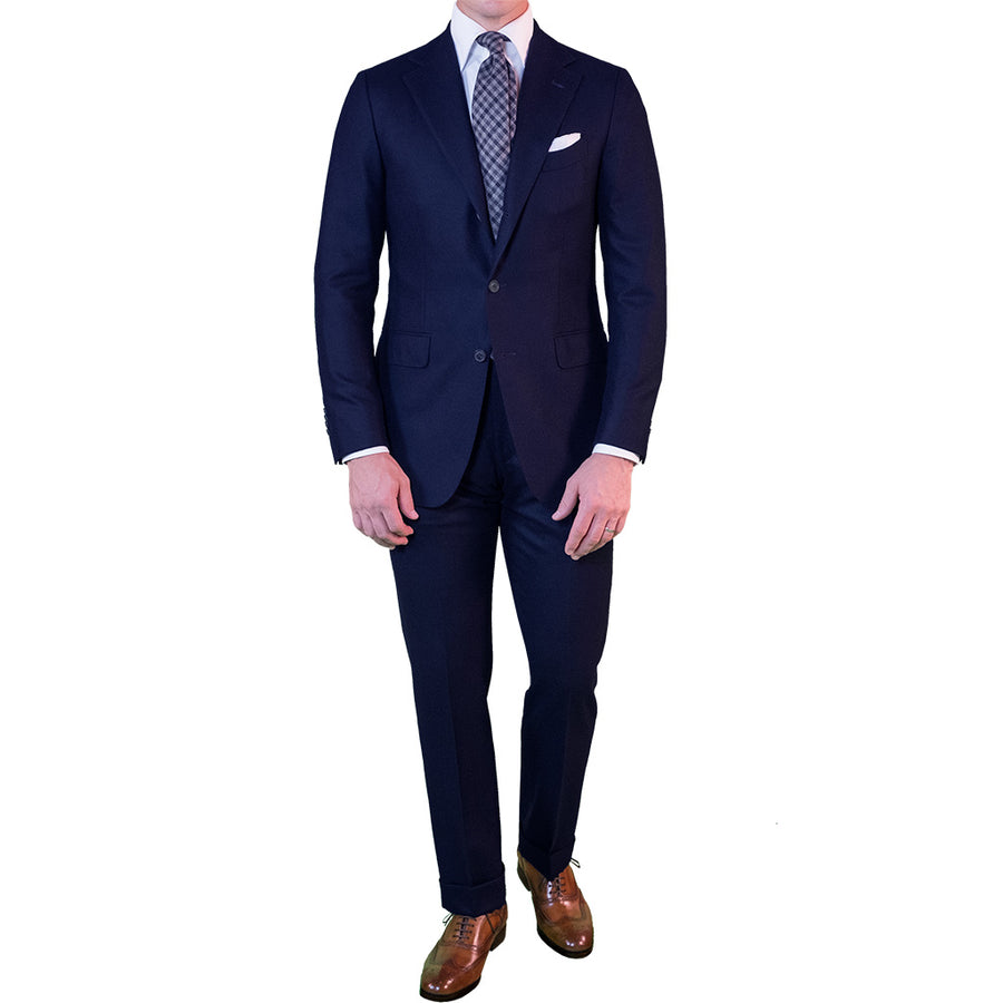 Navy Flannel Suit - Beckett & Robb
