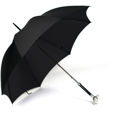 Fox Nickel Fox Head Tube Umbrella - Dark Grey Canopy - Beckett & Robb