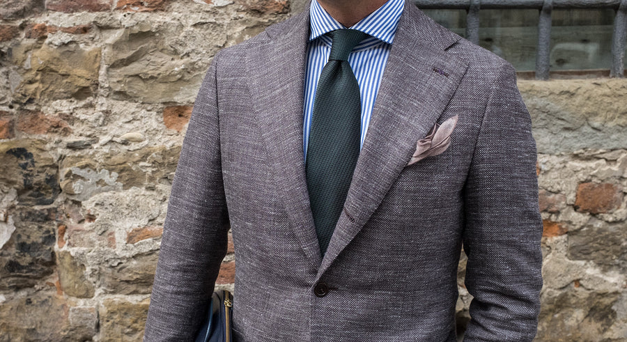 Brown Hopsack Sport Coat - Beckett & Robb