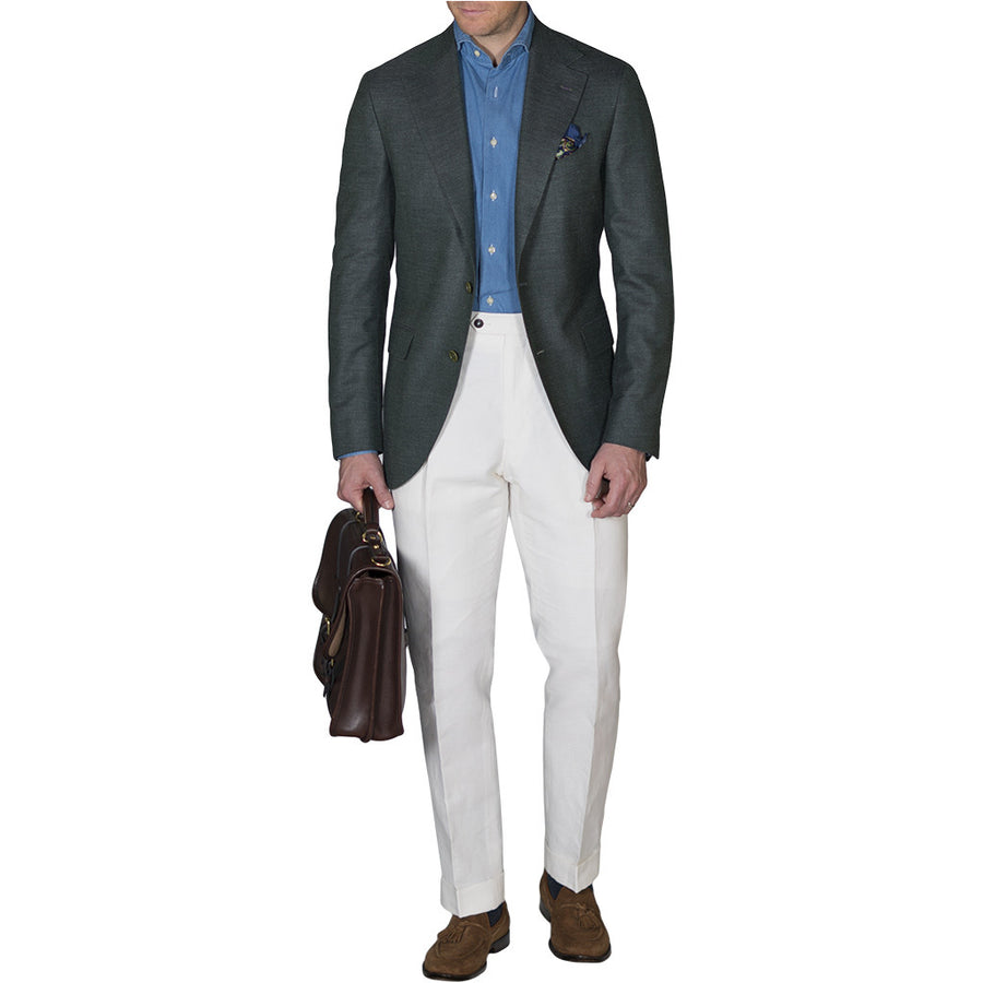 Green Hopsack Sport Coat - Beckett & Robb