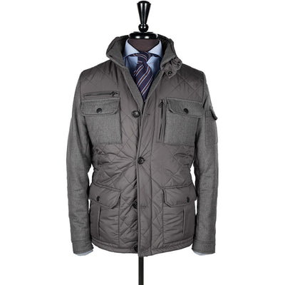 Grey Alpine Quilted Jacket - Beckett & Robb