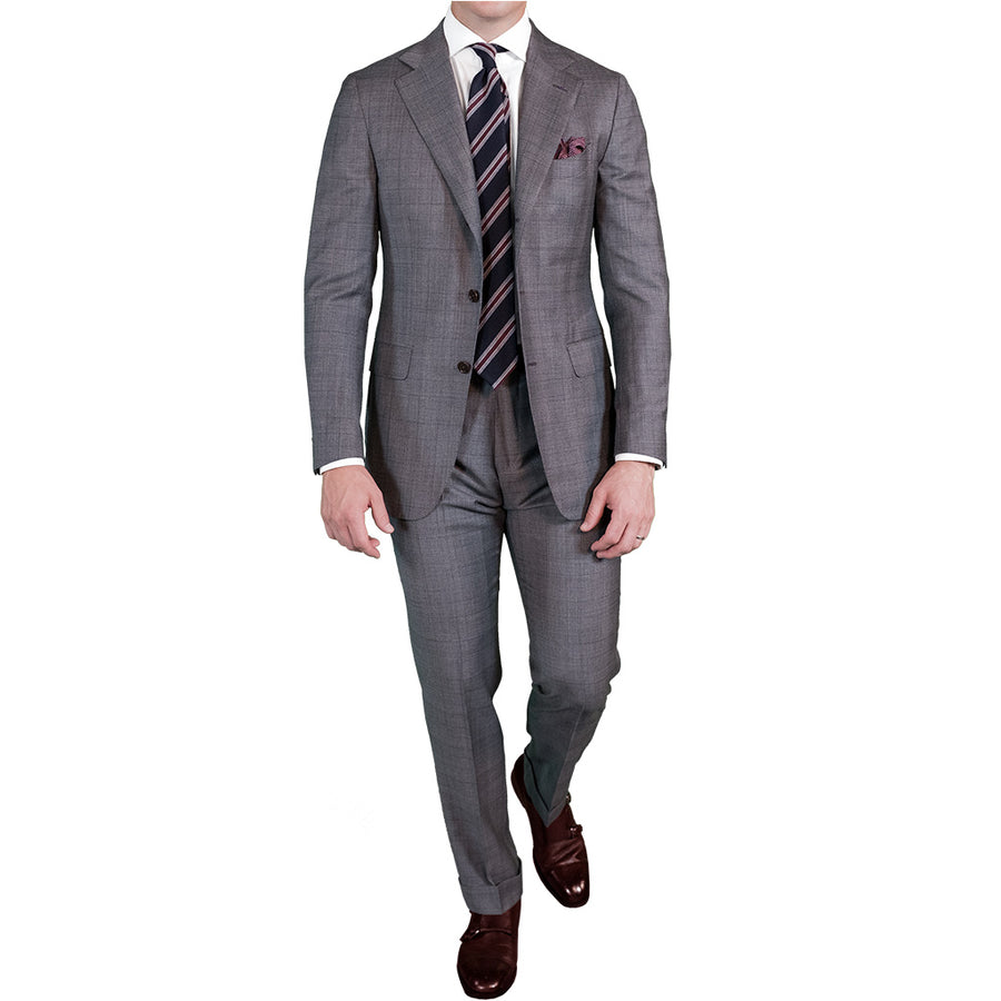 Grey Glen Check Suit - Beckett & Robb
