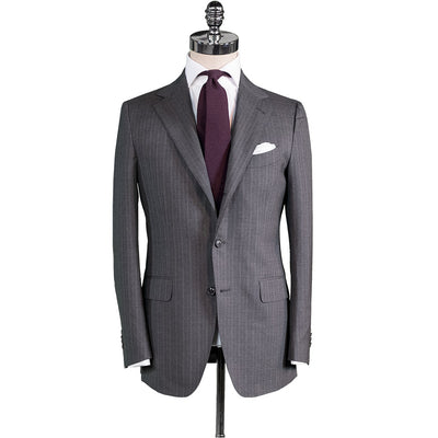 Grey Shadow Stripe Suit - Beckett & Robb