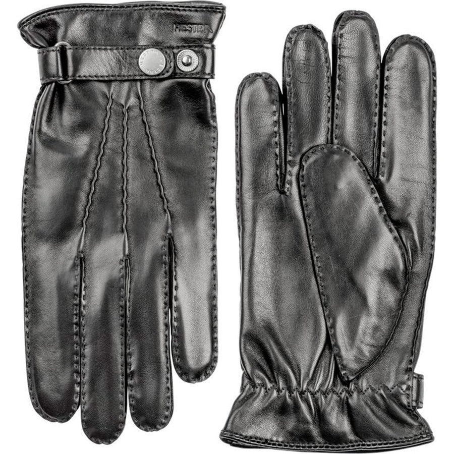 Hestra Leather Gloves - Black - Beckett & Robb