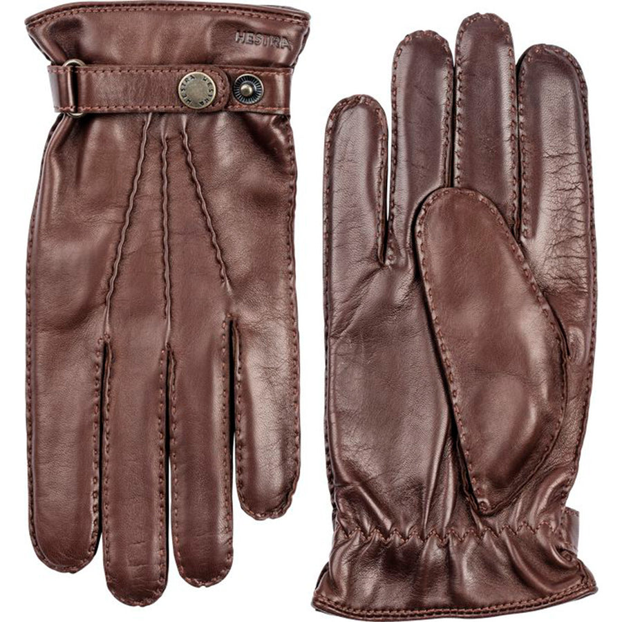 Hestra Leather Gloves - Chestnut - Beckett & Robb