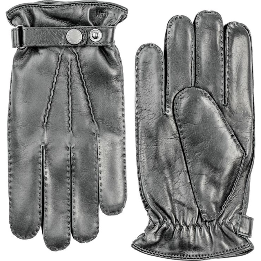 Hestra Leather Gloves - Grey - Beckett & Robb