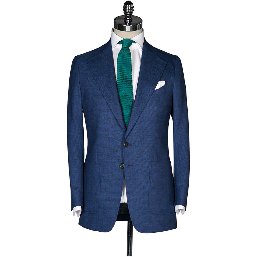 Royal Blue Hopsack Sport Coat - Beckett & Robb