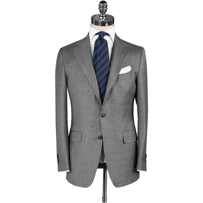 Light Grey Plain Weave Suit - Beckett & Robb
