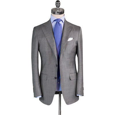 Light Grey Sharkskin Suit - Beckett & Robb