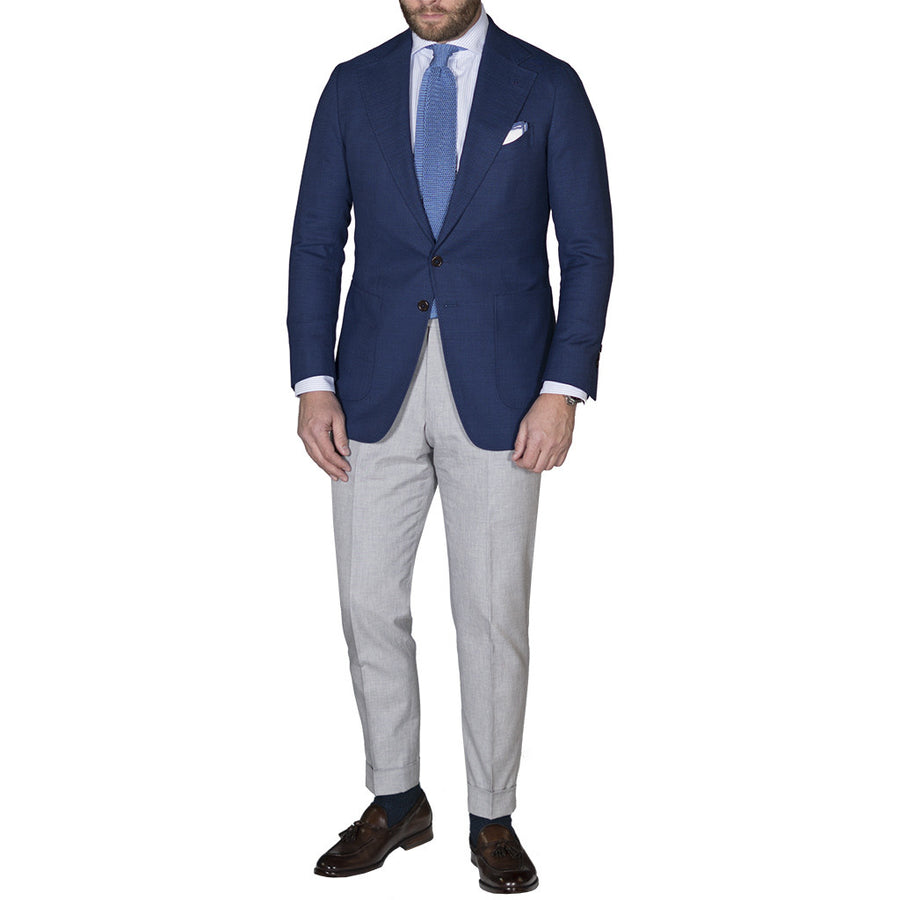 Blue Open Weave Sport Coat - Beckett & Robb