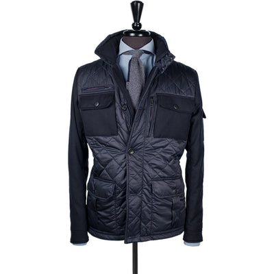 Navy Alpine Quilted Jacket - Beckett & Robb