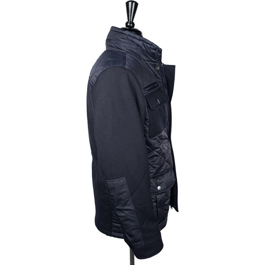 Navy Alpine Quilted Jacket
