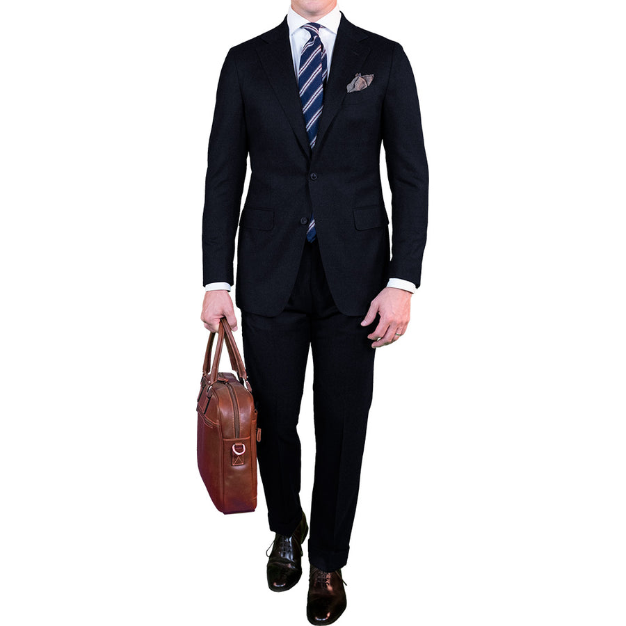 Navy Hopsack Suit