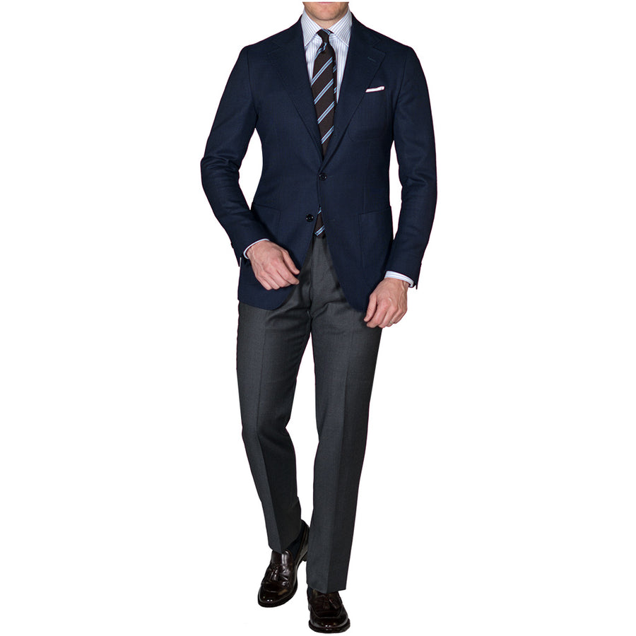Navy Open Weave Sport Coat